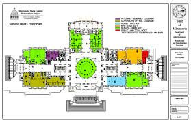 Public Floor Plans by Future Occupancy Floor Plans Minnesota Capitol Restoration