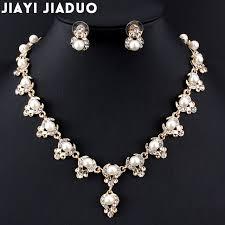 elegant necklace set images Jiayijiaduo bridal elegant and elegant jewelry set for women gold jpg