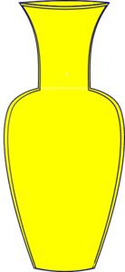 yellow vase yellow vase clip at clker vector clip online