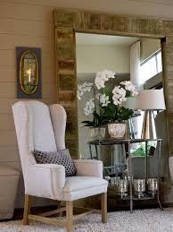interior u0026 decoration white sofa chair by leaning mirror