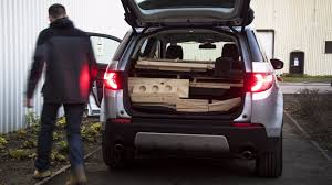 2017 land rover discovery sport trunk land rover wants to put santa in a box