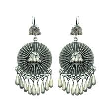 peacock design earrings 925 silver india tribal jewelry earrings peacock design by