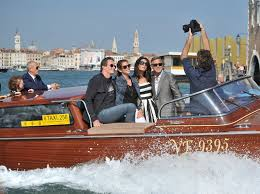 wedding on a boat a fleet of weatherproofed boats stole the spotlight at clooney s