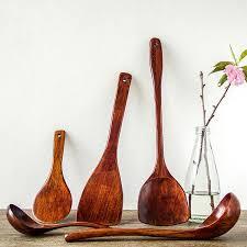 cuisine ustensile ustensile de cuisine en bois lot de 5 pièces vaisselle japonaise
