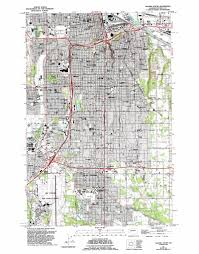 Renton Washington Map by Tacoma South Topographic Map Wa Usgs Topo Quad 47122b4