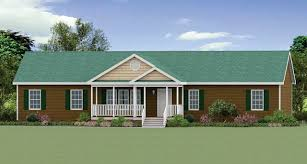 the oakboro modular home modular home with green roof and brown