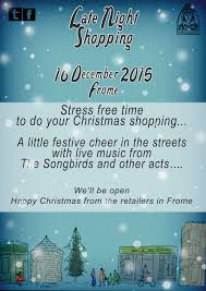 extra christmas shopping time for frome frome town council