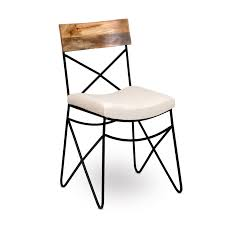 Industrial Dining Chair Dining Chair Upholstered Industrial Chic Style