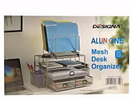 all in one desk organizer designa all in one mesh desk organizer with space saving design