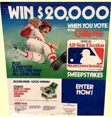 Magazine Sweepstakes 1981 Gillette All Star Sweepstakes Sign