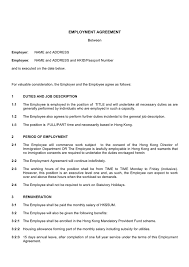 employment contract template download free documents for pdf