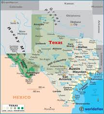 map tx large color map