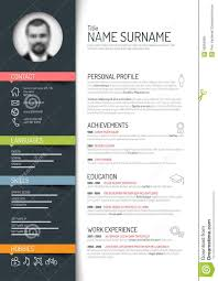Resume Templates Minimalist by Resume Template Color Resume For Your Job Application