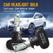 car light bulb replacement one pair car light bulb 50w 8000lm h7 led headlight auto front fog