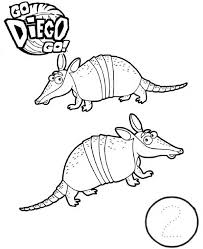 two anteater in go diego go coloring page netart