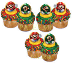 mario cake toppers 6 mario and luigi cupcakes photo mario brothers fondant