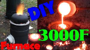 diy iron furnace build youtube