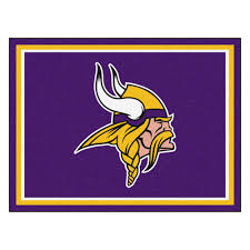 Nfl Area Rugs Minnesota Vikings 1 4 Plush Area Rug 8 X 10