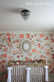 baby girl nursery hand painted floral wall mural rachel safety note all of this will be removed when she sleeps the bumper will be removed for a couple months in between bassinet to crawling stage