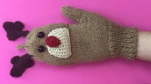 christmas gloves part 1 fingerless gloves with rudolph design