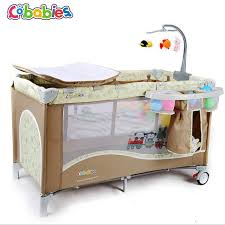 Changing Table Crib 2017 New Portable Baby Crib Multi Functional Folding With Diapers