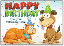 veterinary themed birthday cards smartpractice veterinary