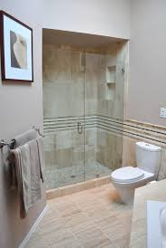 bathroom round glass shower stalls connected by tube white