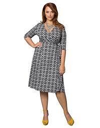 kiyonna women u0027s plus size essential wrap dress