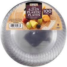 clear plastic plates daily chef clear 6 25 plastic plates 100 ct sam s club