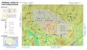 Map Of Nevada And Surrounding States Nevada Test Site Areas And Facilities