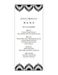 Buffet Menu For Wedding by Popular Menu For Wedding Buy Cheap Menu For Wedding Lots From