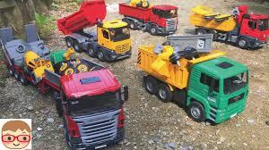 kids truck video excavator construction trucks for children