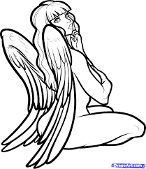 drawn graffiti angel pencil and in color drawn graffiti angel