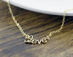 gifts necklace images Gold love necklace love script necklace romantic jewelry jpg