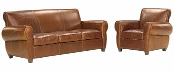 Rustic Sectional Sofas Rustic Leather Sleeper Sofa And Reclining Club Chair Set Club