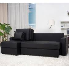 Convertible Storage Sofa by Aspen Black Convertible Sectional Storage Sofa Bed Free Shipping