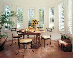 Dining Room Furniture St Louis by Impressive Hunter Douglas Shutters With High Ceilings Dark