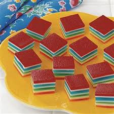 rainbow gelatin cubes recipe taste of home