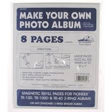 Magnetic Pages Photo Album Pioneer Memory Book 8x8 Refill Pages Free Shipping On Orders