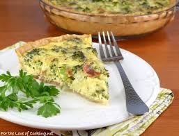 cuisine quiche broccoli sharp cheddar and bacon quiche for the of