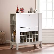 Wine Bar Cabinet Furniture Mirage Mirrored Fold Out Wine Bar Cabinet