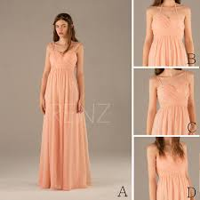 2015 convertible strap peach bridesmaid dress pink halter prom