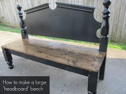 pretty headboard bench how to make large headboard bench