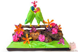 Tropical Theme Wedding - summer wedding cakes pink cake box custom cakes u0026 more