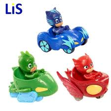 lis 3pcs lot pj mask cartoon characters catboy owlette gekko