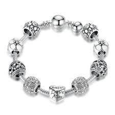 bracelet charm silver images Pandora charm silver love charm bracelet for women reflex bargain jpg