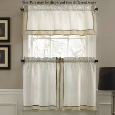 stratford faux linen tier window treatment