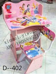 factory direct wooden panel cartoon princess girls lifting study table desk children table drawing desk and