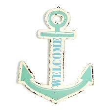 distressed welcome anchor wall plaque 16