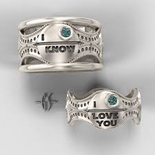 his and hers rings princess leia and han his and hers wars wedding rings